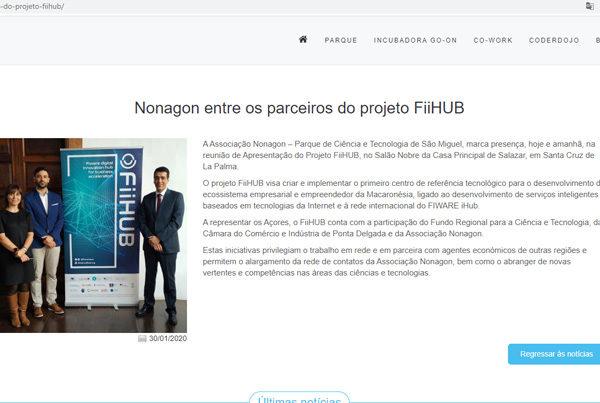 Nonagon entre os parceiros do projeto FiiHUB