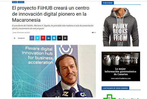 El proyecto FiiHUB creará un centro de innovación digital pionero en la Macaronesia