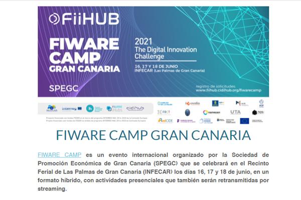 FIWARE CAMP GRAN CANARIA