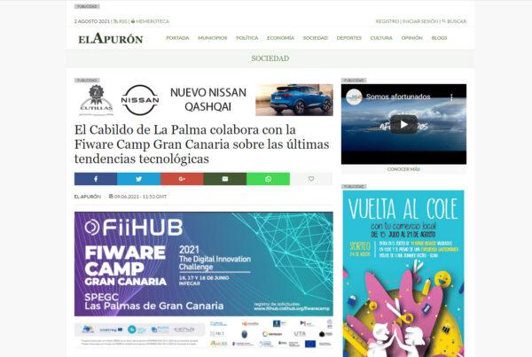 El Cabildo de La Palma colabora con la Fiware Camp Gran Canaria sobre las últimas tendencias tecnológicas